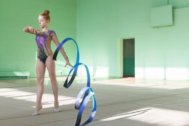 新体操初心者のためのリボンの練習方法