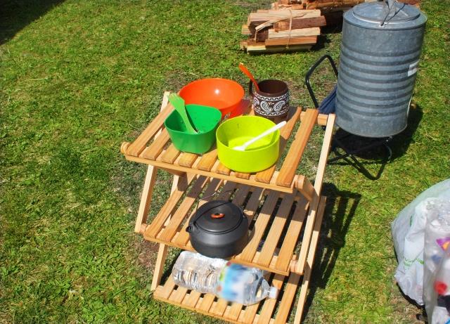 キッチンスペースの作り方   キャンプ場の基礎知識