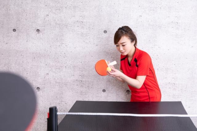 基本姿勢と素振り | 趣味の卓球