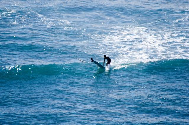ショートボードのバックサイドでのボトムターンのやり方   趣味のサーフィン