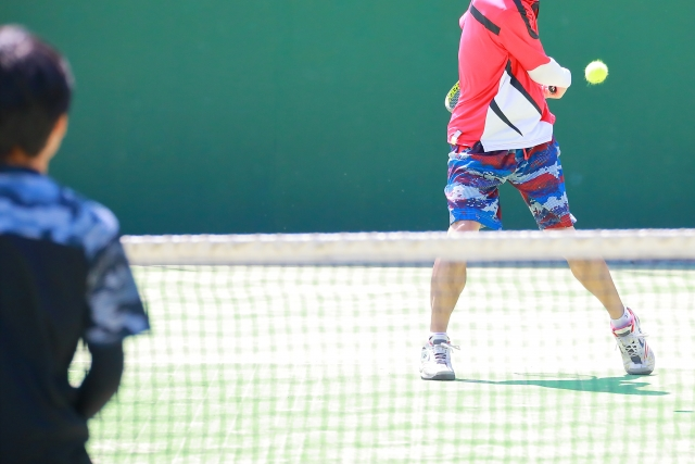 ライジングショットの打ち方   趣味のテニス