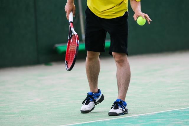 スライスサーブの打ち方   趣味のテニス