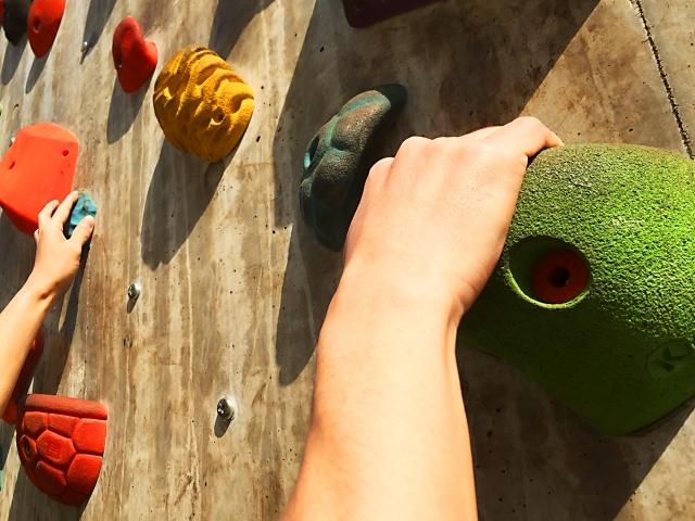 ガバの持ち方とコツ | ボルダリングのハンドボールド